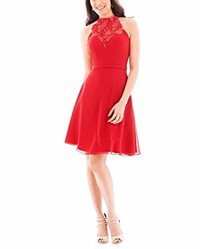 GEORGE BRIDE Sexy kurzes bestickte Baender PartyKleid Abendkleid Rot ...