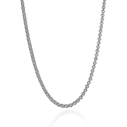 Sterling Silver 3.5mm Double Rolo Rollo Chain Link Necklace - Unisex 26