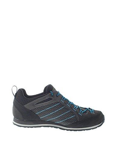 Hanwag Men's Makra Urban Climbing Shoes, Grey/Black (Ash), 11 UK Multicolour (Asphalt/Blue 064059)