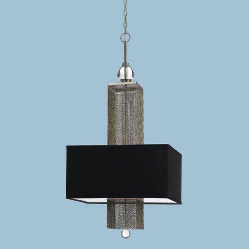 AF Lighting 8446-3H Casby Three Light Pendant- Black Shade - Af Lighting Silk Chandelier