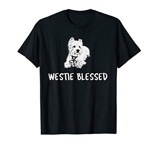 (West Highland Terrier t Shirt - Westie Blessed )