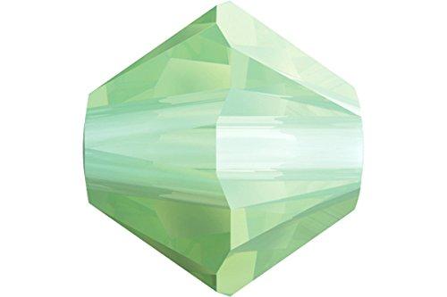 (20 pcs Swarovski Crystal Bicone 5328 Beads, Chrysolite Opal, 6mm )