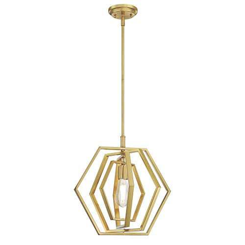 Westinghouse Lighting 6369700 One-Light Indoor Pendant Light, Champagne Brass Finish
