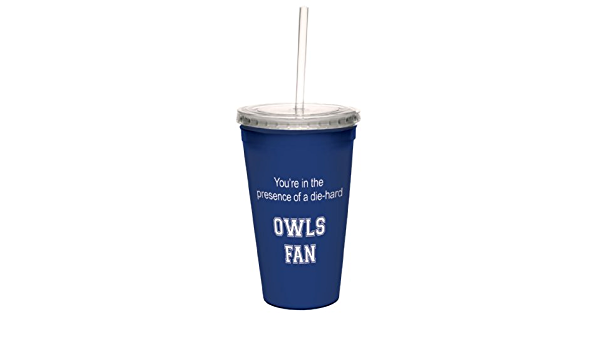 Tree-Free Greetings Panthers College Football Fan Artful Traveler Double-Walled Cool Cup with Reusable Straw 16-Ounce