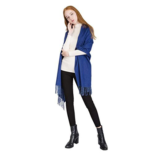 Uso Mantón Lana Azul Doble Abrigos Primavera Color Maimaomao Para q7f8wx68BE
