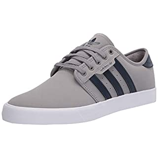 adidas Originals Men's Seeley Sneaker, Ch Solid Grey/Collegiate Navy/FTWR White, 4 M US