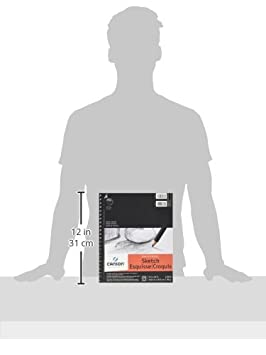 65 Pound for Pencil and Charcoal Canson Artist Series Universal Paper Sketch Pad 100 Sheets Side Wire Bound 5.5 x 8.5 Inch Micro-Perforated