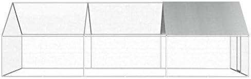 vidaXL Jaula Gallinero de Exterior de Acero Galvanizado 2.75x6x2m ...