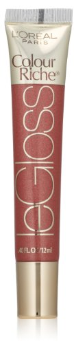 L'Oréal Paris Colour Riche Le Gloss, Saucy Mauve, 0.4 fl. oz. (Rich Lip Color)
