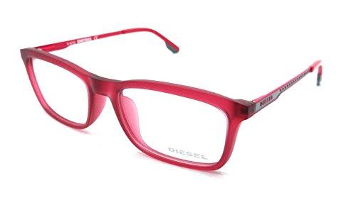 Diesel Rx Eyeglasses Frames DL4048 076 53-17-140 Matte Red/Pink Grey
