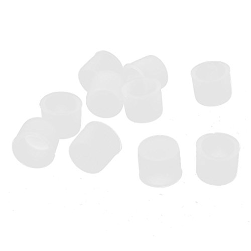 (uxcell 10 Pcs Clear Silicone RCA Female Connector Dust Proof Protector Cover)