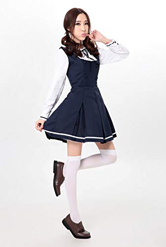 Cosplay tudiant Blue Anime Costume MNLXL Halloween Costume Uniforme Maid zUp5xT