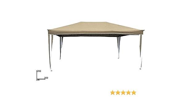 DUE ESSE Carpa desplegable 2 x 3 m Telescópico marco de metal plegable de acordeón toalla color beige, para Camping, Fiera, fiestas, puestos: Amazon.es: Jardín