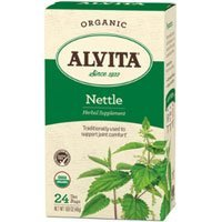 2 Packs of Alvita Teas Organic Herbal Tea Bags - Nettle Leaf - 24 Bags