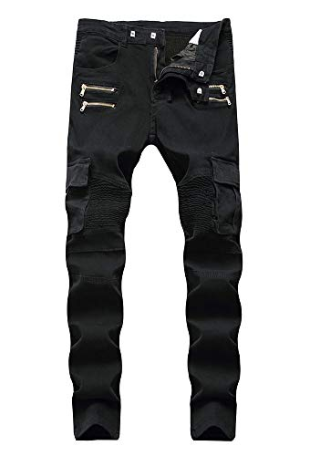 Pantaloni 2 Vestibilità Libero Metà Dritto Della pocket Cerniera Tempo Color Versaces Maschi Vita Slim Multi Jeans XZq75OCvRw