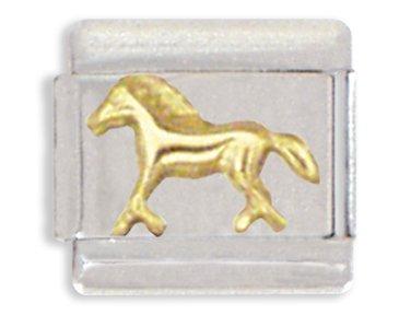 Horse Italian Charm Bracelet Link (Pugster Horse)