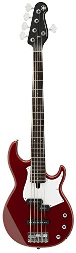 Yamaha BB235 BB-Series 5-String Bass Guitar, Rasberry Red
