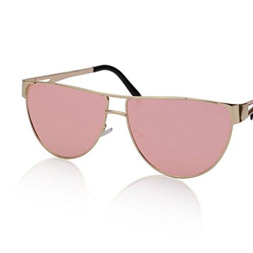 con americanas Gafas sol Color elegantes Gafas semicirculares gafas sol Gafas de y metálica de 3 mujer montura QQB europeas 1 X336 de Ttw8Ptq
