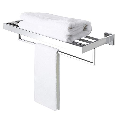 Alise GA7215-C Bathroom Towel Rack/Rail Holder Towel Shelf Hanger Wall Mount,SUS 304 Stainless Steel Polished Chrome