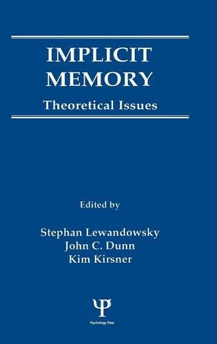 Implicit Memory: Theoretical Issues by Brand: Psychology Press
