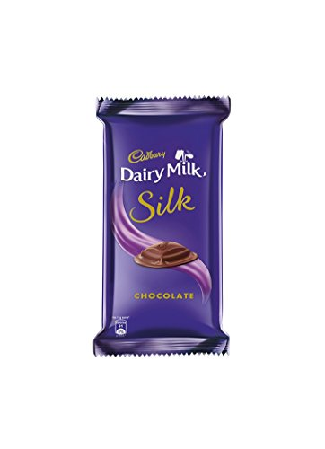 Cadbury Dairy Milk Silk Chocolate Bar, 60 grams (2.11 oz) - India - Indulge in the irresistible taste of Silk