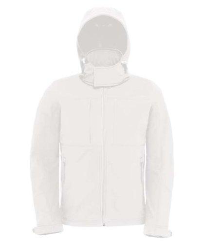 B&C Herren Softshell-Jacke mit abnehmbarer Kapuze Hooded Softshell /men Azure XL