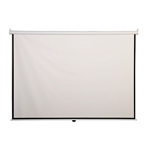 120'' 4:3 Aspect Ratio Manual Pull Down Auto-Lock Projector Screen Projection Matte White Screen Fabric Wall Or Ceiling Mount Home Theater Business Presentation Classroom Public Display Use