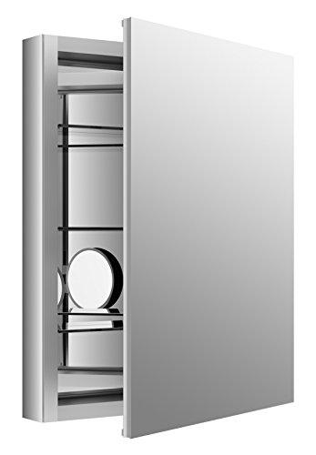 KOHLER K-99007-SCF-NA Aluminum Verdera Medicine Cabinet with Adjustable flip-Out Flat Mirror, 24
