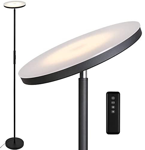 Anten LED uplighter Stjarna | zwart | 30W dimbare vloerlamp met afstandsbediening | 3 lichtkleuren | helderheid traploos…