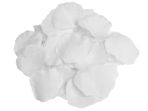 4000 Silk Roses (BalsaCircle 4000 White Silk Artificial Rose Petals Wedding Ceremony Flower Scatter Tables Decorations Bulk Supplies Wholesale)