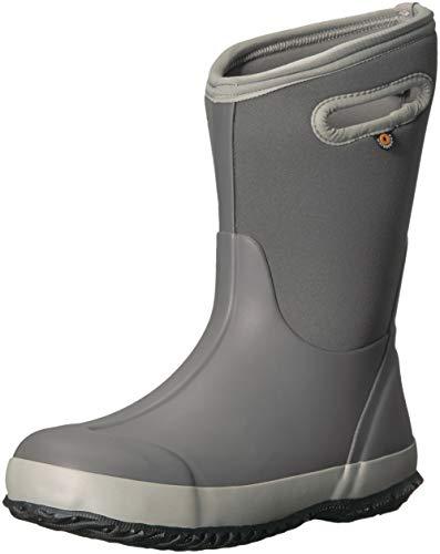 Bogs Classic High Waterproof Insulated Rubber Neoprene Rain Boot Snow, Matte Light Gray, 3 M US Little Kid