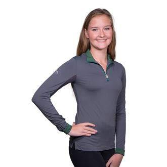 Kastel Denmark Charlotte Signature Collection Long Sleeve Shirt, X-Large, Asphalt/Hunter Green ()