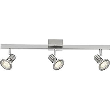 Brilliant Sedna LED Spotbalken, 3-flammig Eisen/Chrom, Metall, GU10, 4 W, 60 x 12.5 x 0 cm [Energieklasse A+] Brilliant AG G36230/77