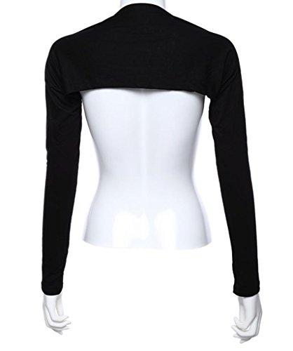 Seastar Women's Bolero Muslim Long Sleeve Shrug Crop Top, Black, Onesize