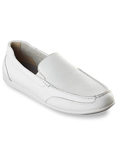 Rockport Men's Bennett Lane 4 Venetian Shoe, white leather, 14 W US