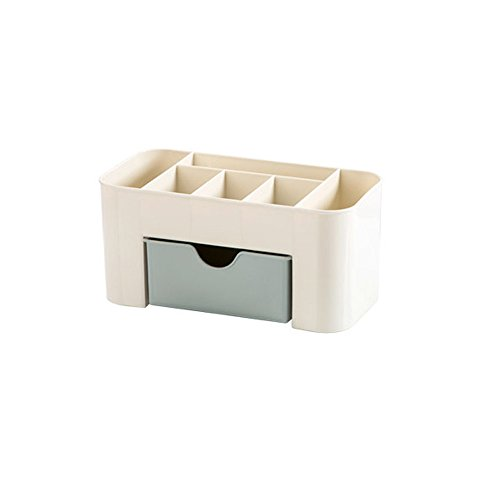 Fan-Ling 1PCS Cosmetic Storage Box,Saving Desktop Space,Makeup Storage Drawer Type Box,Compact Storage Organization Drawers,221010.3 cm (Blue) ()