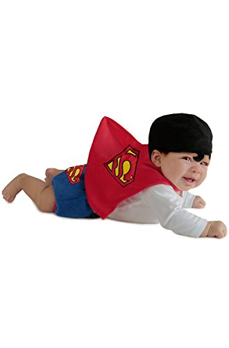 Princess Paradise Baby Boys' Superman Diaper Cover Set, Red 0/3 Months ()