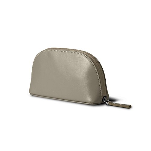 Lucrin - Makeup Bag (6.3 x 3.3 x 2.1 inches) - Light Taupe - Smooth Leather by Lucrin