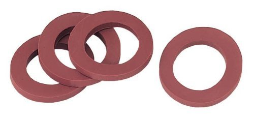 5 pack (50 total washers) - Gilmour 01RW Rubber Hose Washers - Stop Leaking Garden hoses & Faucets - Washer Stop