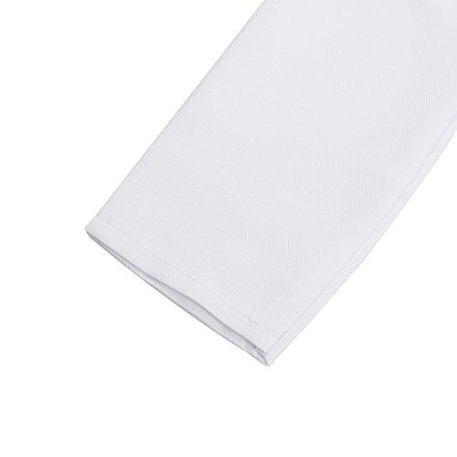 Freebily Scrubs Childrens Lab Coat-Soft Fabric Long Sleeve Doctor Uniform White Cosplay Dress up Costume White 4-5 by Freebily (Image #3)