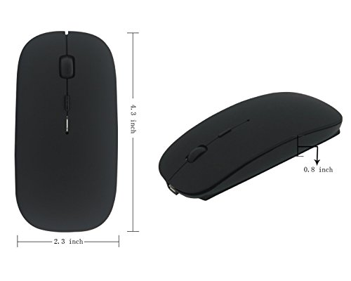 Wireless Mouse,BOOMER VIVI Rechargeable Portable Bluetooth 3.0 Slim Mice 3 Level Adjustable DPI Power-saving Model Built-in Battery with USB cable for PC Laptop Windows/Android Tablet,Mac by BOOMER VIVI (Image #7)