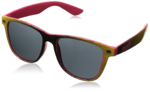 Neff Mens Daily Sunglasses, Black/Yellow/Pink, One Size Fits - Branded Mens Sunglasses For