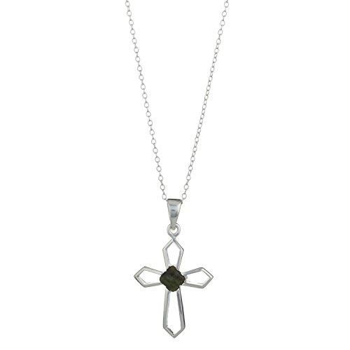 Cross Marble Connemara (Cross pendant in 'Open Work' Silver Connemara marble Centrepiece)