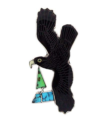 Price comparison product image Harlan Coonsis,  Pen,  Pendant,  Golden Eagle,  Shell,  Turquoise,  Zuni Handmade,  3
