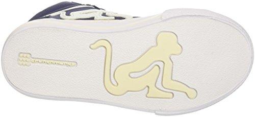 DrunknMunky Boston Classic, Zapatillas de Tenis para Niños Blu (Navy/Beige)