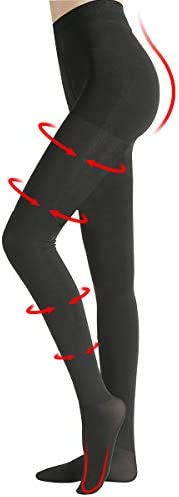 Compression Pantyhose Women 20-30mmHg Tights Closed Toe Support Stocking Black XL
