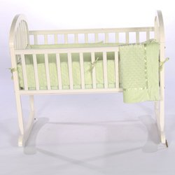 Babykidsbargains Heavenly Soft Cradle Bedding, Green, 15