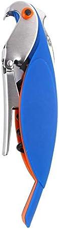 Abrebotellas multifunción en forma de loros Sacacorchos profesional todo en uno, camareros en forma de loro Sacacorchos Mini sacacorchos de acero inoxidable(blue)