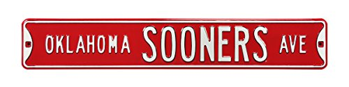 Authentic Street Signs NCAA Officially Licensed, REAL 3 Foot, Premium Grade Solid Steel Embossed STREET SIGN- Prime Wall Decor for Home, Office, Man Cave- Perfect Gift for Him!! Steel Sign Embossed Enamel
