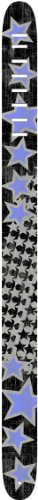 (Perri's Leathers 2.5 Inch Leather Guitar Strap W/Screen Print And Air Brush- Star Tracks)